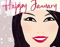 Happy January illustration