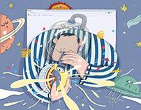 太空卷卷计划——插画商业案