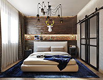 Bedroom 3d render for Virginia Beach project