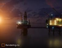 3D visualization - Offshore Oil Platform