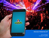 UX | UI Mobile Project - Brazuka App Menu