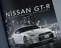 Nissan GT-R Magazine & Flayer Project