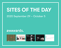Site of the Day AWWWARDS 2020 September 29 – October 5