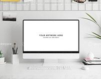 Workspace iMac Screen Mockup
