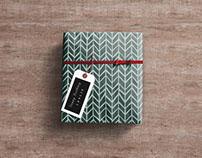 Free Gift Wrap Box PSD Mockup
