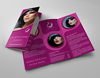 Hair Stylist & Salon Tri-Fold Brochure Vol.2