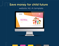 Save Money for child Responsive Web-Design Freebie