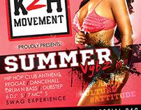 Summer Vybz Season Artwork Flyer