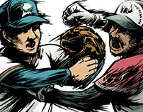 BOOK COVER ILLUSTRATION「80年代プロ野球名語録」書籍表紙イラスト