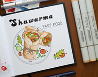 Food Illustrations #3 / Copic Markers