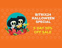 Bitrix24 Halloween Special - 3-Day 30% Off Sale