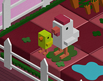 Isometric Cube Design /Small Farm