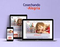 Cosechando Alegría -Diseño web
