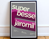 Postrer for super besse and jaromil concert in Paris