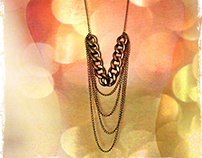"Lemelle necklace ""Golden Brown Chain"""