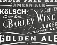 Typographic Beer poster...
