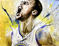 Steph Curry: 30x40 Signed Collector's Canvas