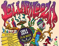 Lollapalooza Chile 2014 / Gigposter