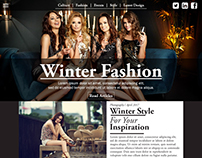 Winter Fashion - UI/UX , Web Design