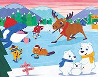 Canadian Animals in a Winter Wonderland