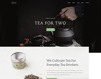 Tea For Two shop Website/UI Concept Template