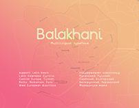 Balakhani Multilingual Typeface