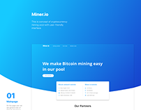 Bitcoin mining pool concept