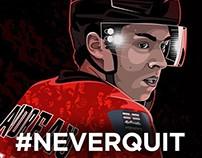 Johnny Hockey - Calgary Flames #NEVERQUIT