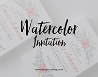 Watercolor Invitation Template