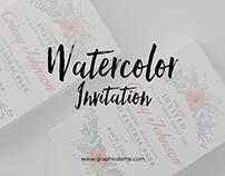Watercolor Invitation Template