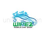 logo for  wipez  car wash company