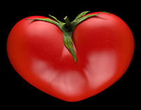 3D Heart Tomato