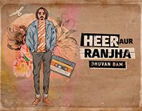 Illustrations for Bhuvan Bam's 'Heer Ranjha'