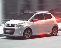 Happy White Citroen C1