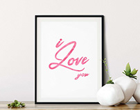 I Love You, Printable Wall Art