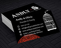 Andly Private Kitchen Business Card