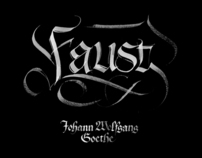 FAUST gothic calligraphy