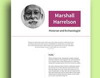 Resume CV Template, Historian Edition
