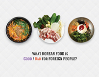 What Korean food is good/bad for Foreigners? infograpic