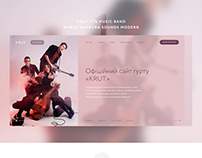 Site for music band «KRUT»