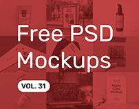 Free PSD Mockups vol. 31