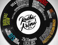 """Racha na Arena"" vinyl flyer"