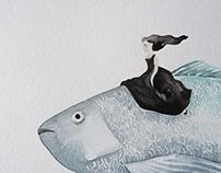 """""""Der Traum unter Wasser II"""" watercolors"""