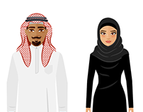 2D Saudi Arabians
