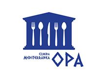 Opa, mediterranean food restaurant.