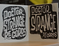 Dr Strange Records Logo Sketches