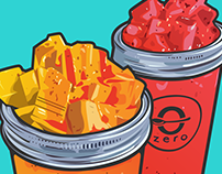 Smoothie Illustrations for Zero Degrees Co