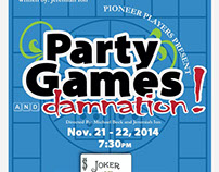 """Party Games and Damnaton"" poster (Succop Theater)"