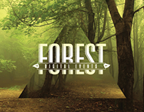 Business card for Forest Digital Events