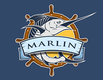 Marlin. Fishing club.